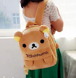 FD4396-Cartoon-San-X-Rilakkuma-Relax-Bear-Cartoon-Backpack-Bag-School-Bag-Gift