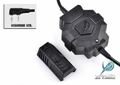 Element / Z-Tactical Z123 Wireless PTT w/ Remote Switch for KENWOOD 2 Pins Radio