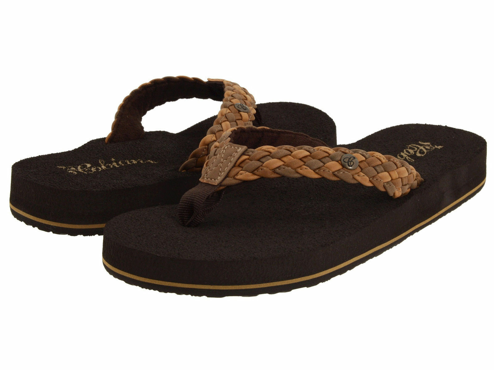 WOMEN COBIAN SANDAL FLIP FLOP BRAIDED BOUNCE NATURAL BRB10-965 NEW WITH TAGS
