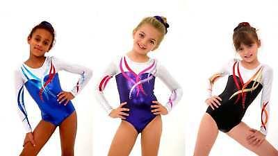 Girls Gymnastics Leotard 24,26,28,30,32,34,36,38 Lilachelene Lucky Dip