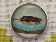 "Charley Harper ONE Bass Fish Sewing Button 1"" Mid Century Modern Charles CH5"