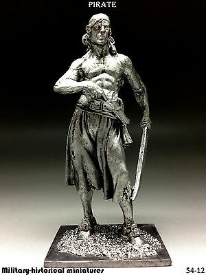 Pirate, Tin toy soldier 54 mm, figurine, metal sculpture