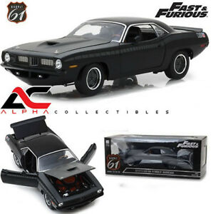HIGHWAY-61-18005-1-18-LETTY-039-S-1972-PLYMOUTH-BARRACUDA-AAR-FAST-amp-FURIOUS