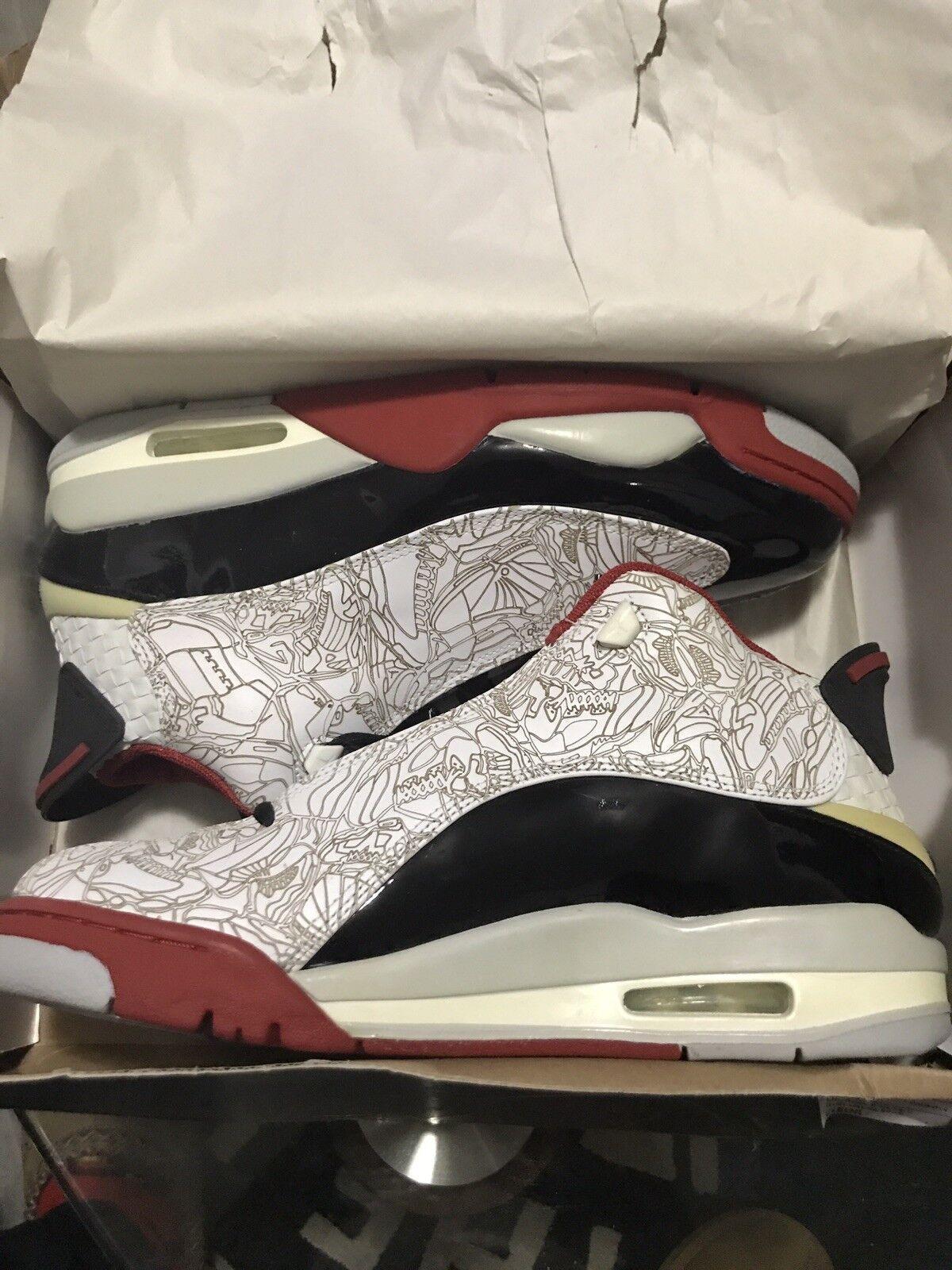 DS Nike Air Jordan Dub Zero WHITE BLACK RED 10 Cheap women's shoes women's shoes