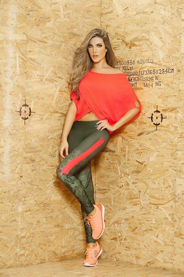 Babalu Mode Leggings Vert/orange Seulement Leggings - Ref:3 6813
