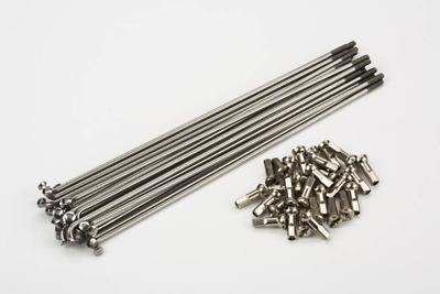 Wheelmaster Stainless Steel Bicycle Spoke /& Nipple 240mm 12 Gauge