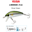YO-ZURI-L-MINNOW-F-11-Truite-Brochet-Perche-Saumon-Trout-Pike-Perch-Lure miniature 5
