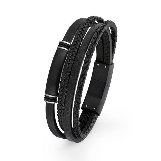Shop für neueste das beste moderner Stil s.Oliver schmuck Herren Armband Lederarmband/schwarz2018696