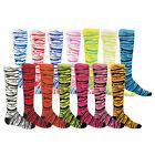 SAFARI Zebra Cat Tiger Striped Knee Socks Soccer Softball Girls Boys Neon youth