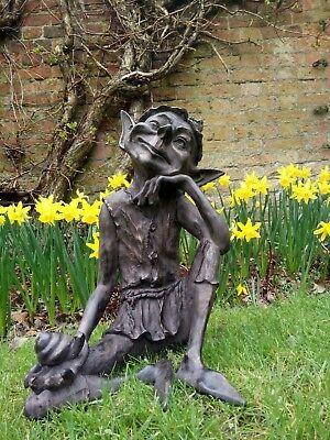 Pixie Deco de jardin statue figurine finition bronze