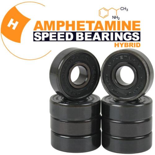 Hybrid Ceramic Bearings Mini Logo Skateboard Wheels 53mm A-Cut 101A Red