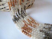Multi moonstone round beads 5mm