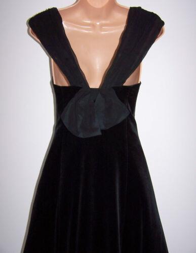 terciopelo con negro de corto noche cuello en Laura vintage Vestido redondo 10 u Ashley de qaR1awU