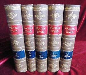 Details Zu 5 Bände Goethes Werke Gedichte Faust Romane Novellen Wilhelm Meisters Lehrjahre