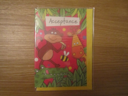 Scellé Parti acceptation Carte de vœux lumineux pour Enfants Animaux Jungle Design
