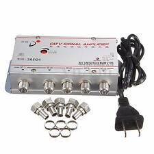 4  Way CATV VCR TV Antenna Signal Amplifier Booster Splitter 20DB 45-880MHz 220V