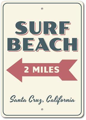 Custom Favorite Beach Name ENSA1002257 This Way Beach Arrow Vertical Sign