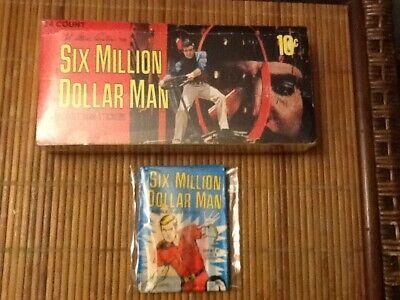 2018 Topps Wrapper Art Card #38 Six-Million Dollar Man 1975 Print Run 269