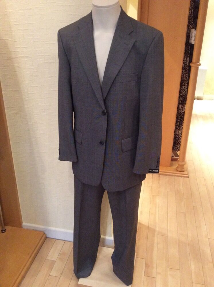 Roy Robson Men's Suit Size 40 R BNWT Grey 2-Piece RRP  Now