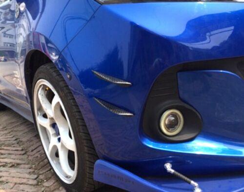 Car Carbon Fiber Front Bumper Lip Splitter Fins Body Spoiler Canards Refit Trim