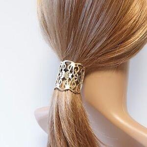 Image is loading Stylish-Patterned-Cuff-Hair-Elastic-Ponytail-Holder 779d1fee4c5