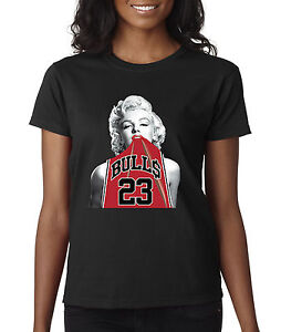 4dd18c3e9ae3 New Way 419 - Women s T-Shirt Marilyn Monroe Bulls 23 Michael Jordan ...