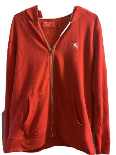 Men's Express Red Zip-Up Hoodie Large