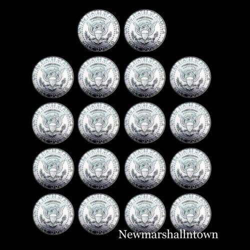 2011 2012 2013 2014 2015 2016 2017 2018 2019 P+D Kennedy Halves from Mint Rolls