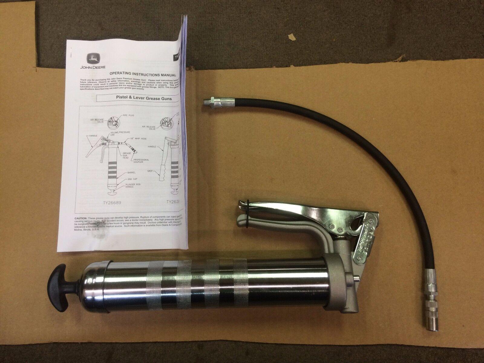 Nueva Pistola Engrasadora JOHN DEERE resistente de alta presión TY26689 empuñadura de pistola