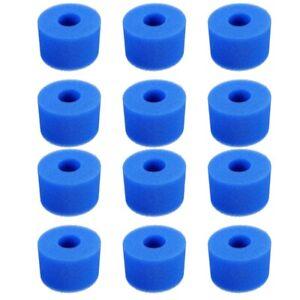 12PCS-Esponja-de-Espuma-de-Piscina-para-Intex-S1-Reutilizable-Lavable-Biofo-U3J7