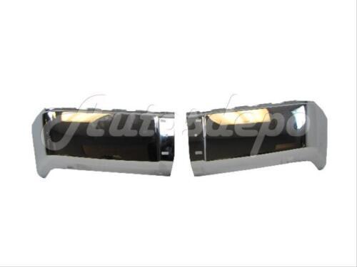 FOR 2007-2011 SILVERADO SIERRA 1500 2500 3500 REAR CHR BUMPER CAP STEEL SET NEW
