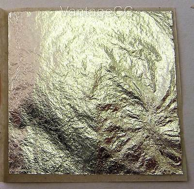 100% Pure 999 Silver Leaf Edible 38mm Sheets Cake Baking Crafts - NOT on BASE!!!