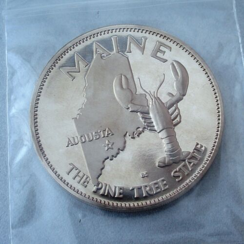 "Maine /""States of the Union/"" 39mm Proof-Like Bronze Governor/'s Edition"