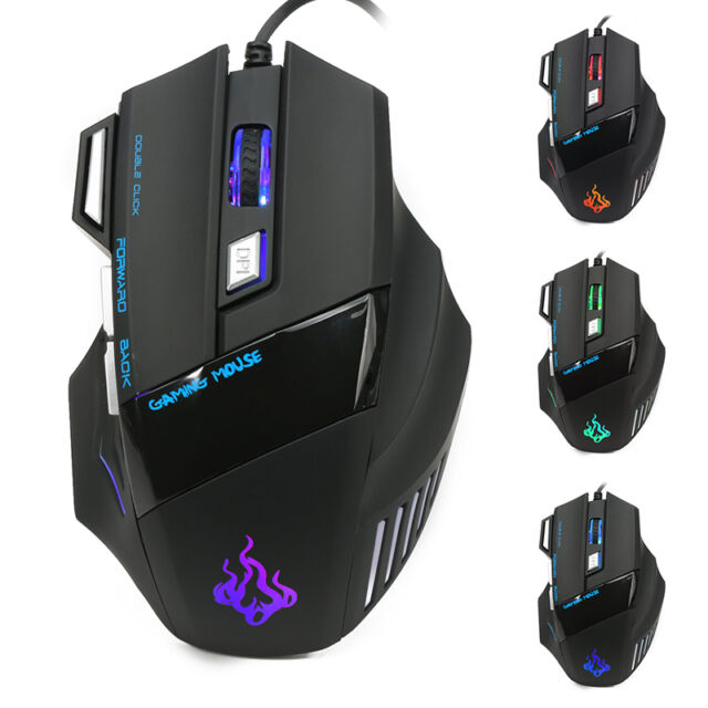 991ac87f56b 5500 DPI 7 Button Cool USB LED Mice Optical Wired Gaming Mouse For Pro Gamer