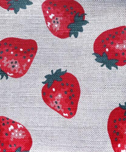 """47x70 Halbleinen 2 Geschirrtücher Küchenhandtücher /""""Erdbeeren/"""""""