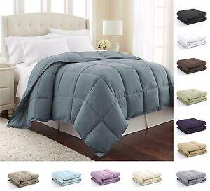 Image Is Loading Down Alternative Comforter Reversible Lightweight Duvet Insert With