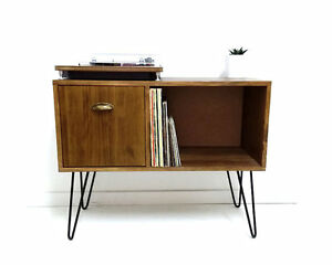 Image Is Loading Vinyl Record Storage Console Table Media Console Cabinet