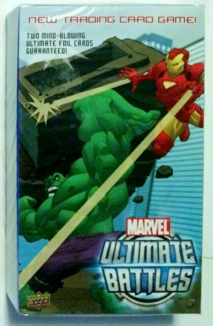 Marvel Ultimate Battles TCG Trading Card Game Box with 2 Ultimate Foil Cards
