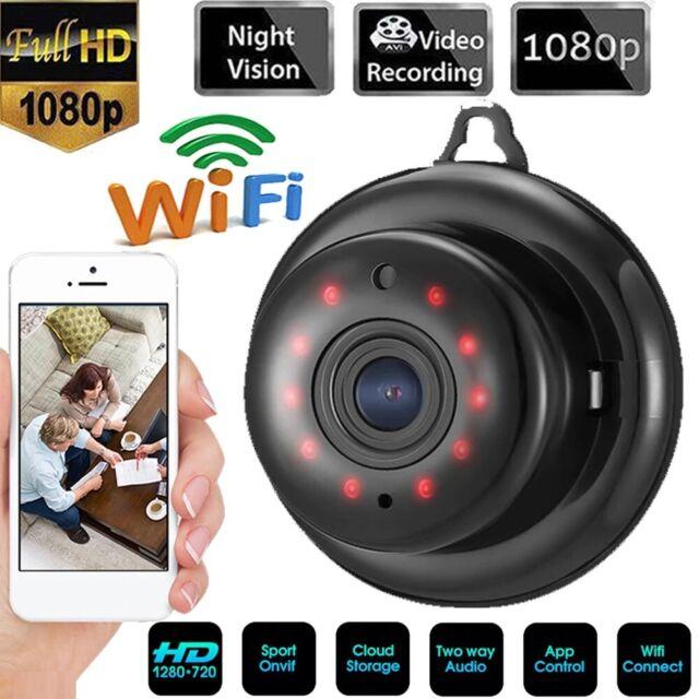 Mini IP Kamera Funk üBerwachungskamera 1080P Full HD Wlan Nachtsicht Webcam DHL