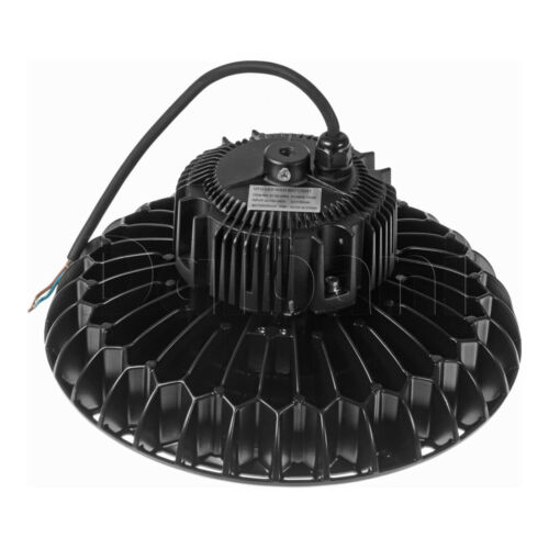 UFO High Bay Commercial Light Fixture 100W Black Aluminum OSRAM .9 PF 6000K