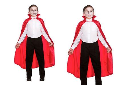 Lusso Rosso Per Bambini Vampiri Mantella Accessorio Costume Di Halloween Ultima Moda