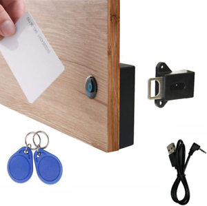 RFID Locks for Cabinets Hidden DIY Lock Electronic Cabinet Lock w// USB RFID Card