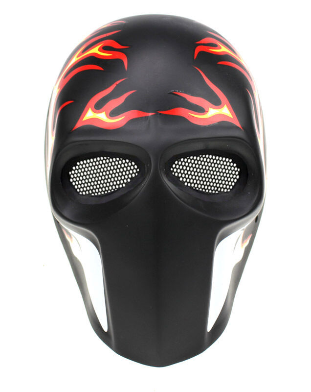 High quality Fiberglass Resin Mesh Eye Eye Mesh Airsoft CS Paintball Full Face Mask PROP 5ff90b