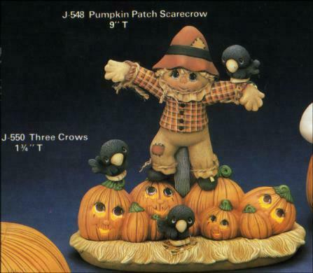 Pumpkin Patch Scarecrow Halloween Light Up  *Ceramic Bisque Ready to Paint