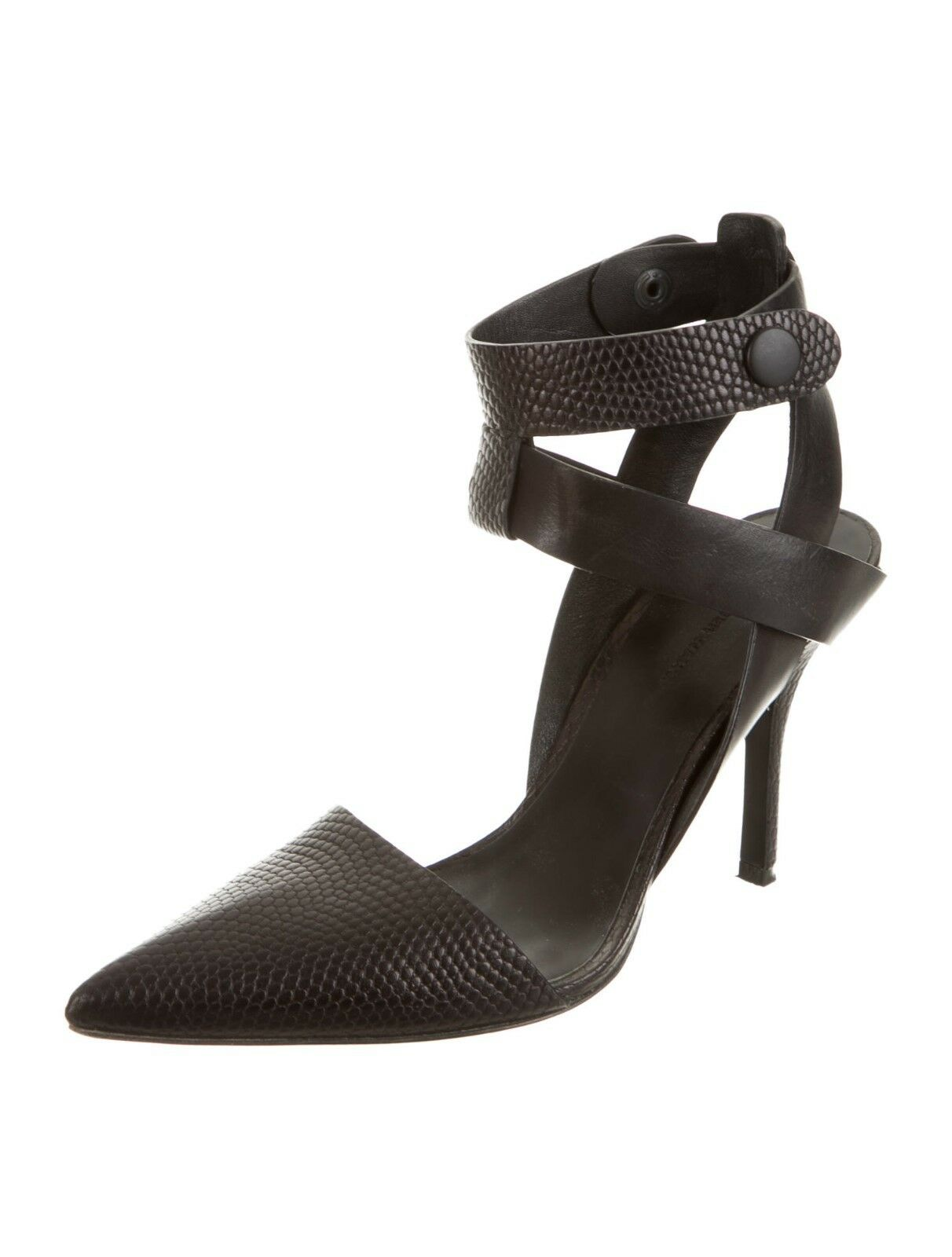 GORGEOUS NEW SOLD OUT  750 ALEXANDER WANG BLACK LEATHER HEELS