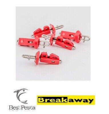 confezione da 5 pezzi BREAKAWAY RED GEMINI SPLASH DOWN SOLO BAIT CLIPS
