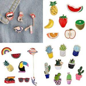 Cartoon Fruit Women Girl Enamel Collar Pins Badge Corsage Brooch Pin Jewellery