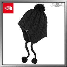 The North Face Fuzzy Earflap Beanie Damen Strickmütze black