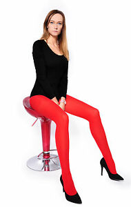 Red-60-Denier-S-to-4XL-Ladies-Tights-Opaque-Matt-Pantyhose-Hosiery