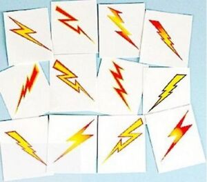 Lightning-Bolt-Temporary-Tattoos-Wizard-Scar-Party-Bag-Fillers-Pack-Sizes-6-36